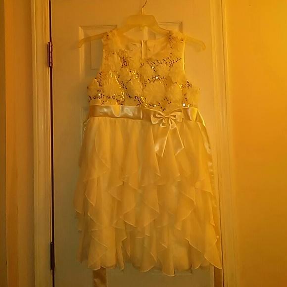 GIRL\'S IVORY PLUS SIZE DRESS